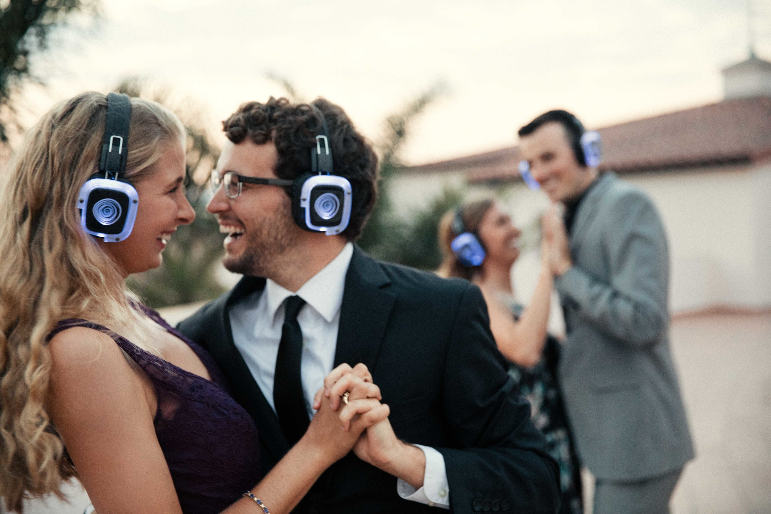 SOUND GEAR - We have impressive gear including wireless and battery powered solutions to make things easy. We can provide sound for ceremony, cocktail hour, dinner, speeches, bands, and DJ's all in the same night. We also offer wireless headphones for when you want to keep dancing even after the venue needs you to stop amplified music.