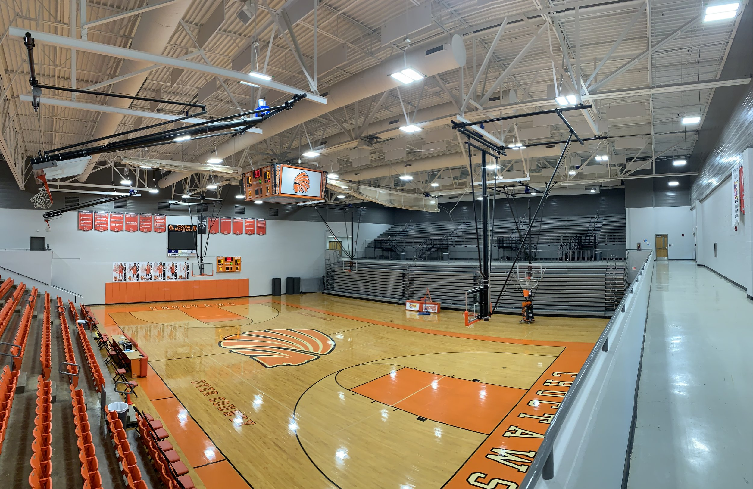 Educational: Dyer County High School Gym Re-light  Architect: MNB Architects  Photography: HNA Engineering