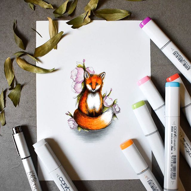 Guys, I have been waiting to share this for weeks! Copic asked me to participate in their #CopicColors for September as one of their featured artists and I was thrilled! This month they changed it up a bit and are using six colors instead of three, the bright colors inspired me to create something playful and whimsical to match. 💖