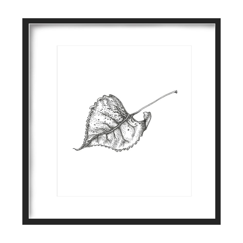 Leaf Print 5x5 - $5 -