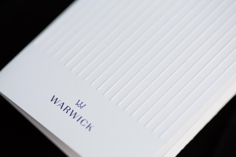 Warwick Hotel key card design