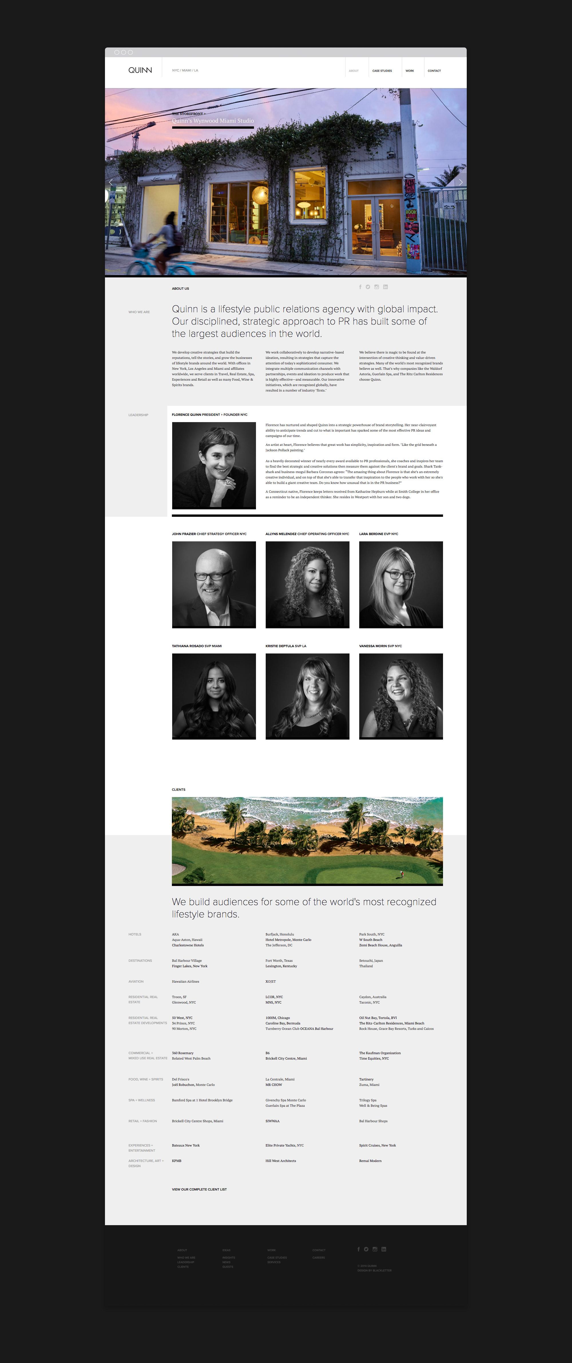 Quinn web design