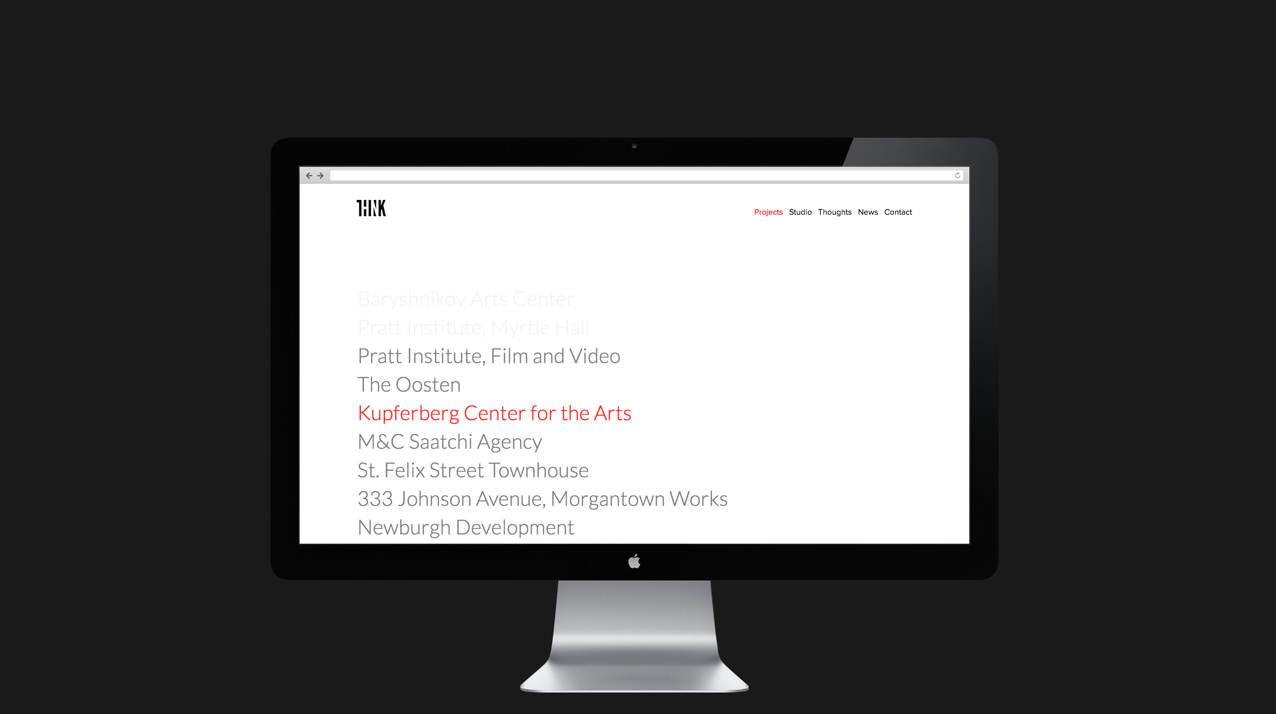 Think! web design, projects