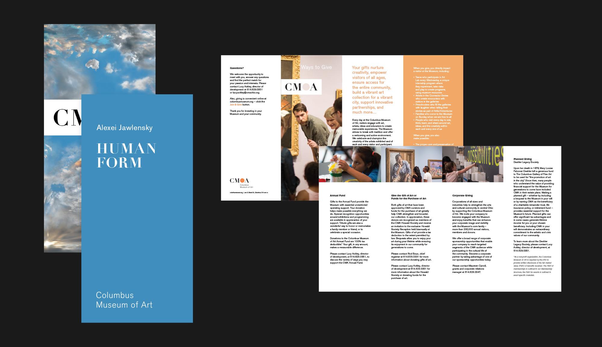Columbus Museum of Art print brochure design