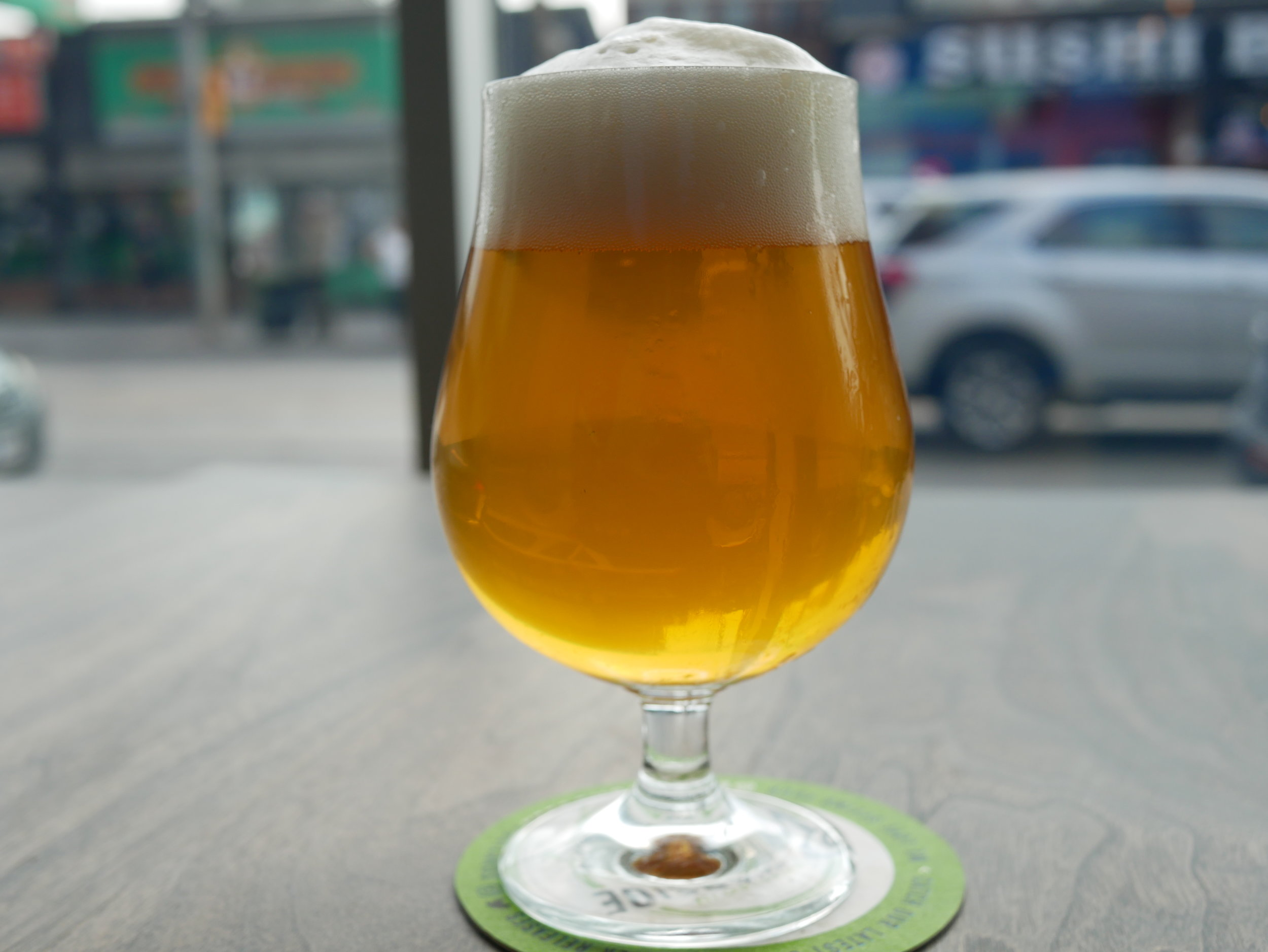 Copy of Basecamp Saison glass of beer