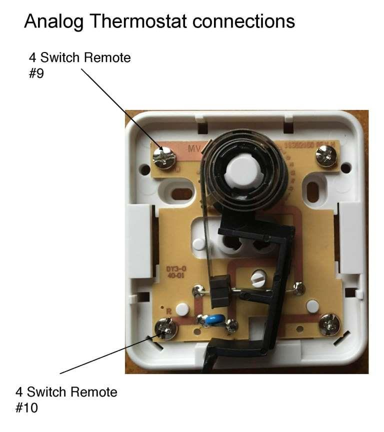 Analog Thermostat Connections