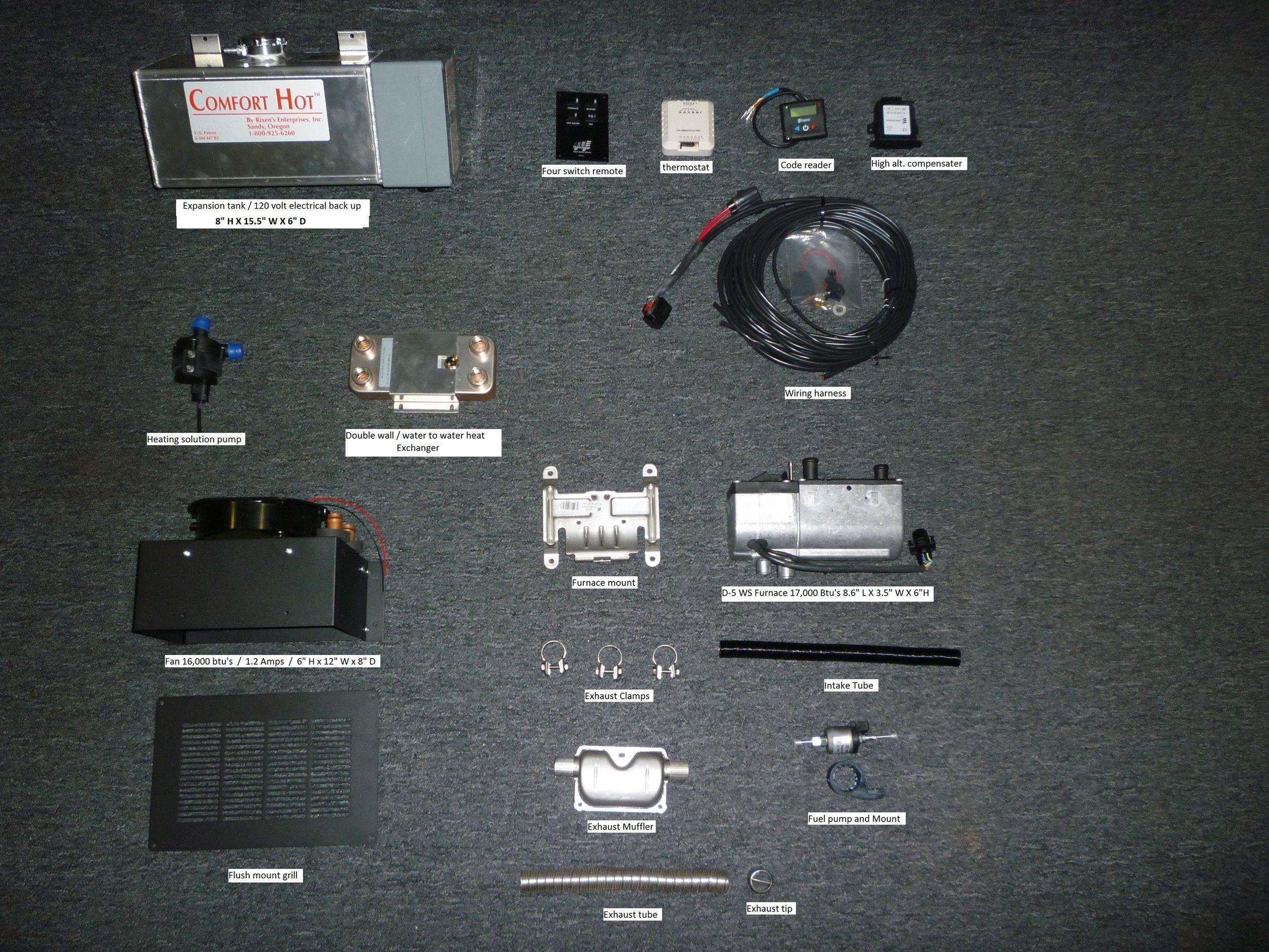 D-5 RV Parts Kit