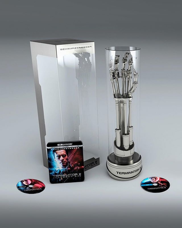 Here's an update from our Home Entertainment department. Have a look at that thing! It's the Terminator 2: Judgment Day 4K Ultra HD Limited Collectors Edition. It comes loaded with a Life-sized EndoArm encased in hard acrylic dome on an uniquely numbered stand, including James Cameron's signature. A limited run of only 6000 available in the United States. Pretty epic! . . . . . . . . . @lionsgate @schwarzenegger #jamescameron #lindahamilton #stockholmdesign #creativeagency #keyart #print #typography #posterart #movieposter #movieposter #filmposter #posterdesign #entertainmentadvertising #advertising #billboard #creative #inspiration #film #entertainment #behindthescenes #terminator2 #terminator2judgmentday #terminator2 #terminator #sarahconnor #johnconnor #kylereese #illbeback #prop #terminatorgenisys