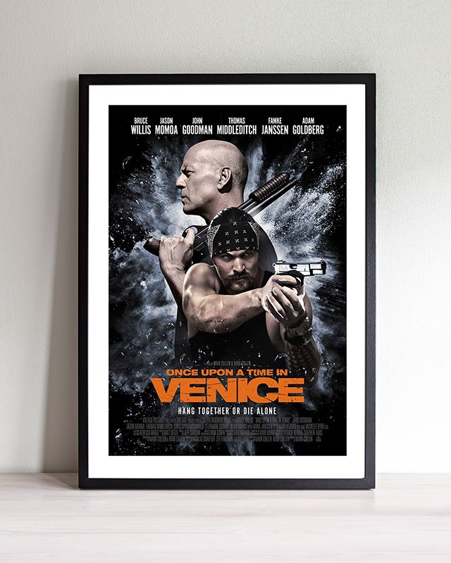Here's a look our Key-Art Campaign (x3) for the action/comedy ONCE UPON A TIME IN VENICE, starring  Bruce Willis, Jason Momoa, John Goodman, Thomas Middleditch, Famke Janssen, and Adam Goldberg. . . . . . . . . . . @prideofgypsies @tombini @theadamgoldberg #famkejanssen #johngoodman @rljefilms #voltagepictures #stockholmdesign #creativeagency #keyart #posterart #movieposter #movieposters #filmposter #posterdesign #entertainmentadvertising #billboard #creative #inspiration #photoshoot #action #comedy #venicebeach #dog #behindthescenes #bts #film