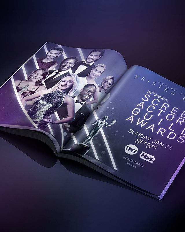 Here's a look at some PRINT and OUTDOOR components of our Key-Art Campaign for the 24th Annual SAG AWARDS. . . . . . . . . . . @sagawards @tntdrama @tbsnetwork @kristenanniebell @ sagaftra #stockholmdesign #creativeagency #keyart #print #typography #posterart #movieposter #movieposter #filmposter #posterdesign #entertainmentadvertising #advertising #billboard #creative #inspiration #photoshoot #television #tv #film #entertainment #tbt #behindthescenes #award #awardshow #awardseason