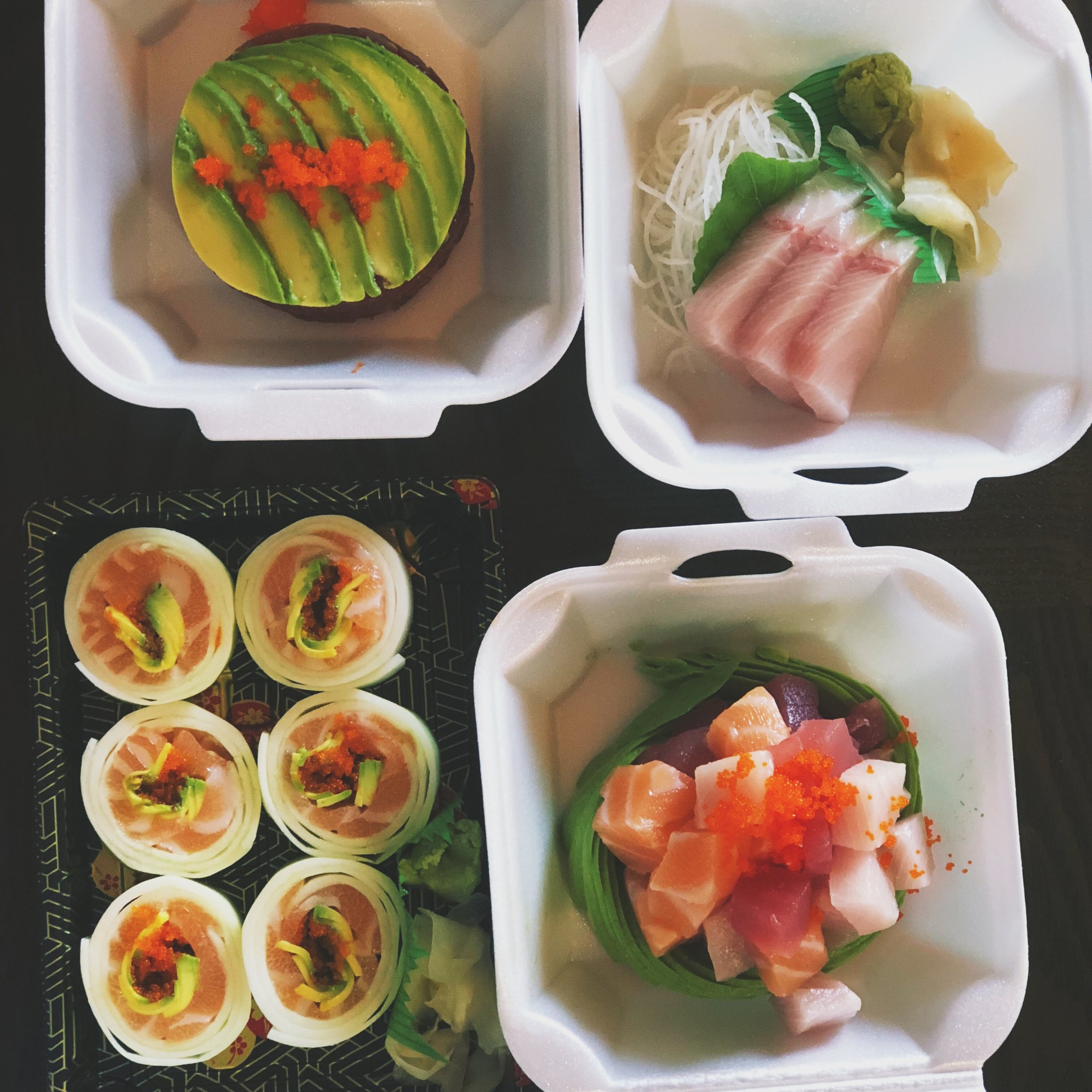 Sushi meal for keto diet