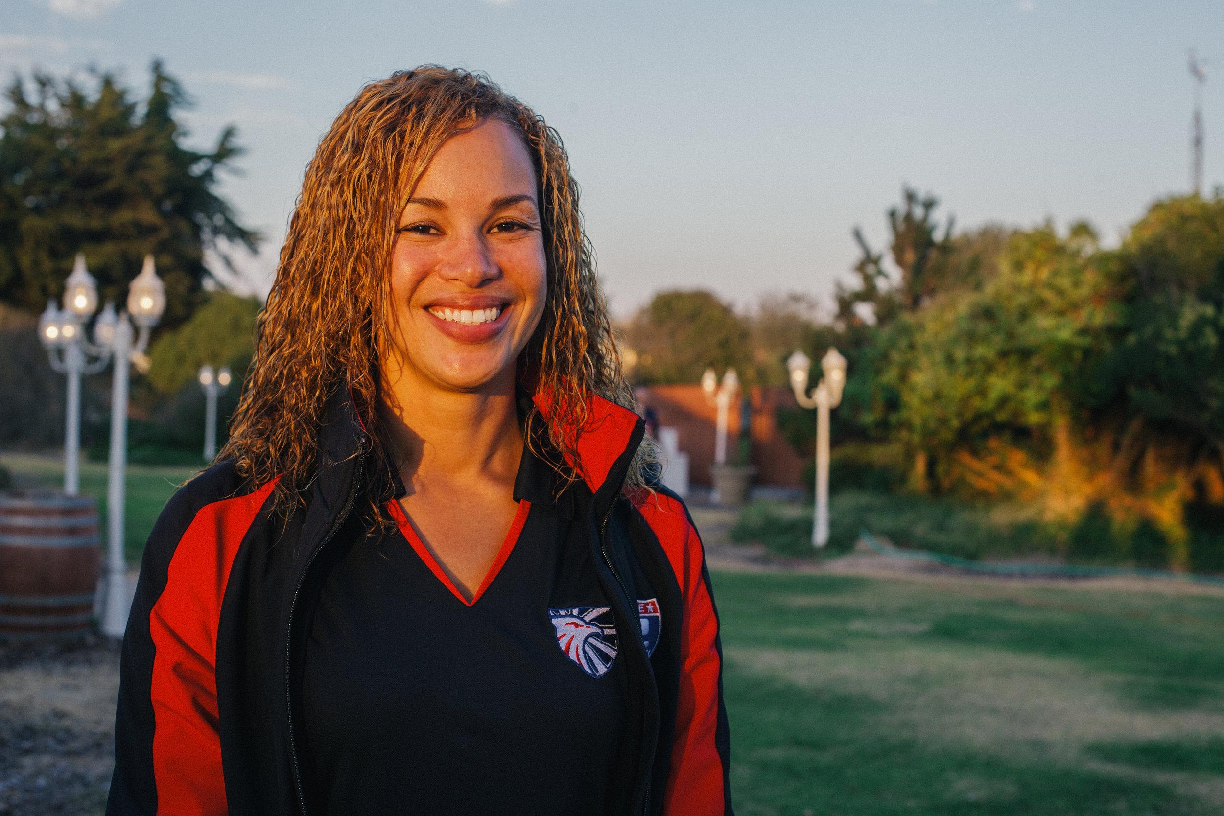 Beatrix Alesantos, originally from Miami, Florida