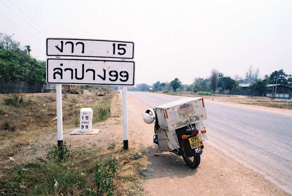 Elsbeth's bike in Thailand. Image by Elsbeth Beard