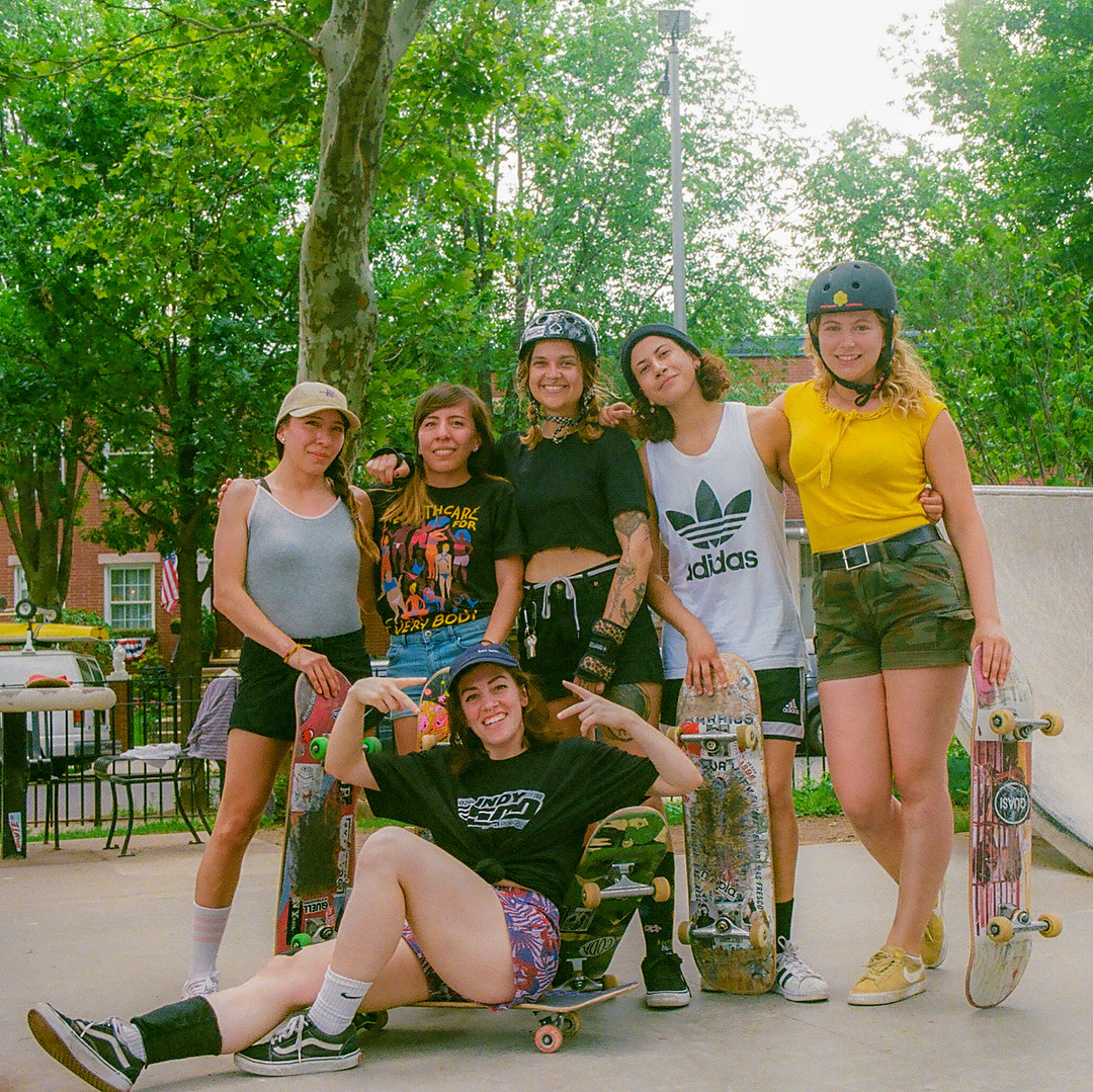 Joana and her mates from Late Skate NYC