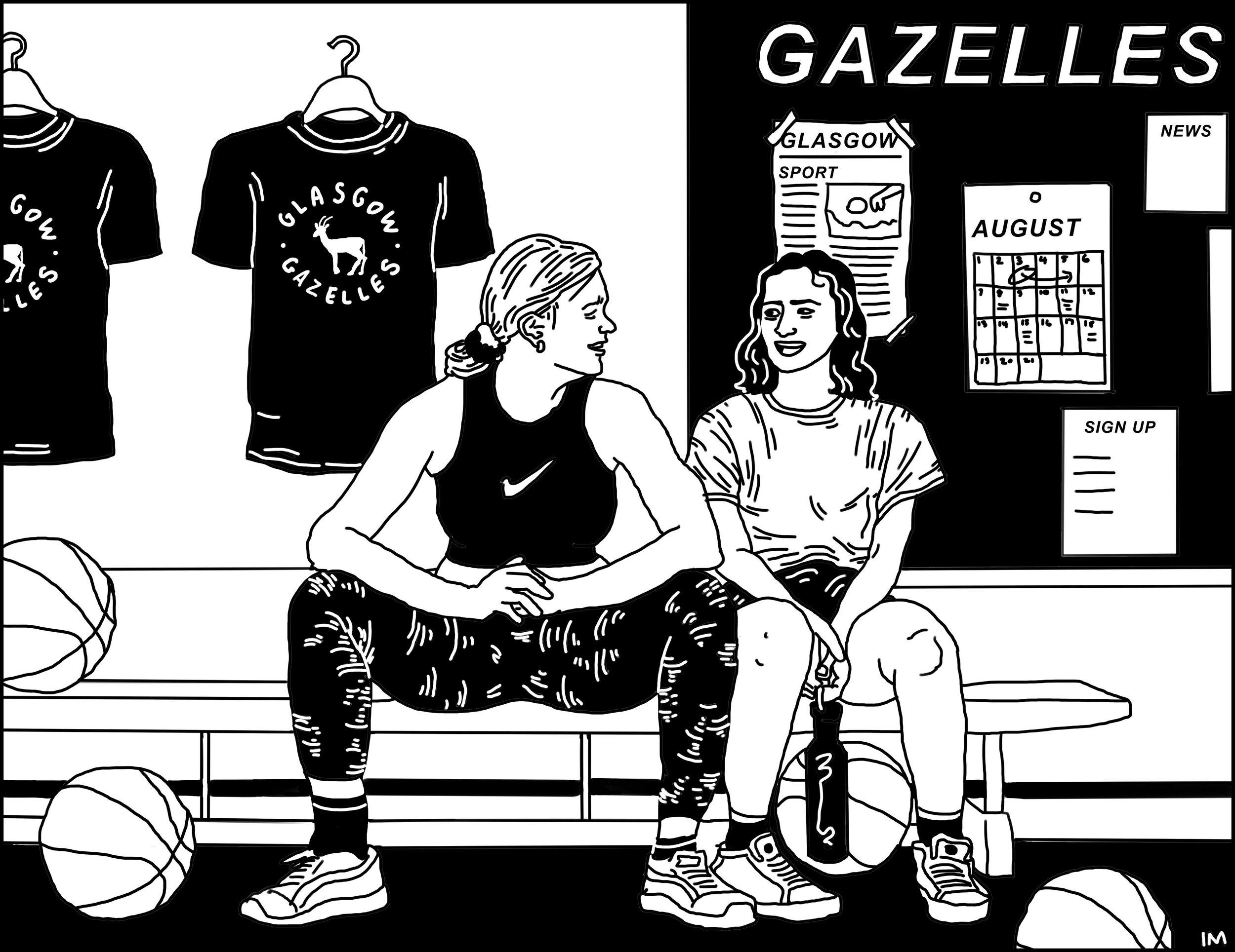 Glasgow Gazelles, Cred: Illustration by  @belmehta