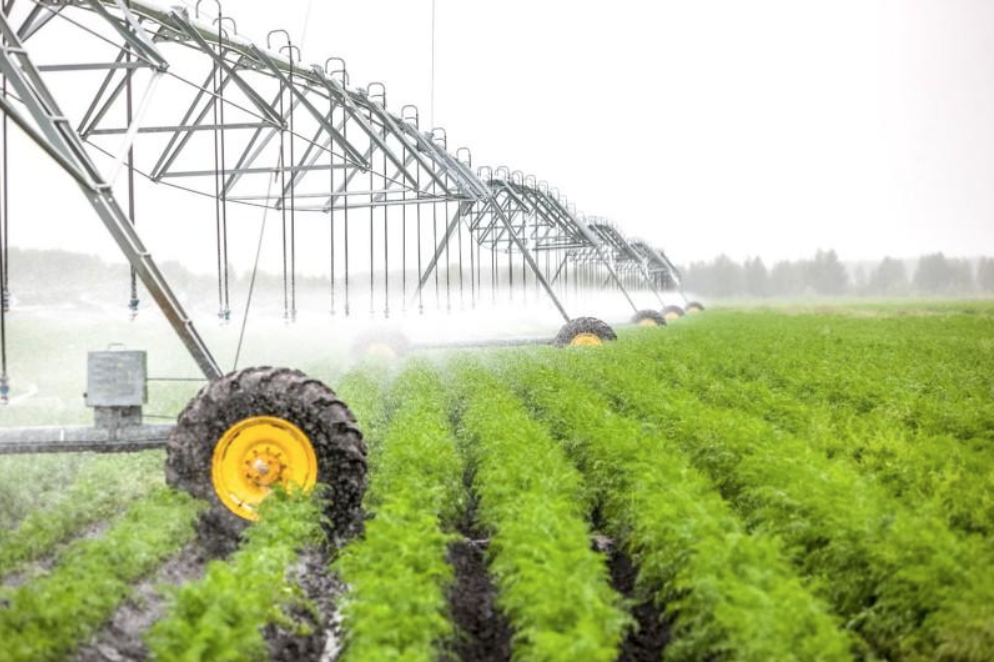 A typical irrigation system for large scale agriculture (279photo Studio/shutterstock).