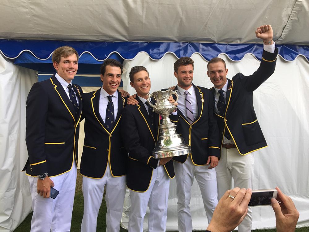 Henley Royal Regatta Visitors' Challenge Cup winners in 2015 with University of California, Berkeley