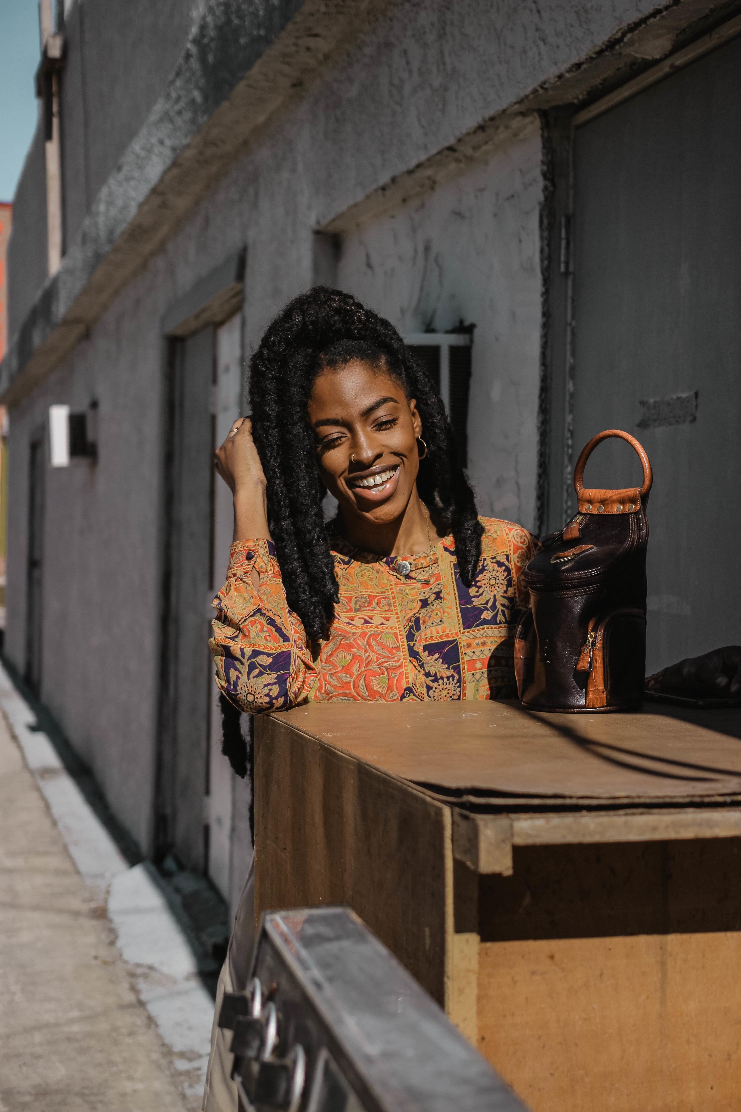 black girls smiling