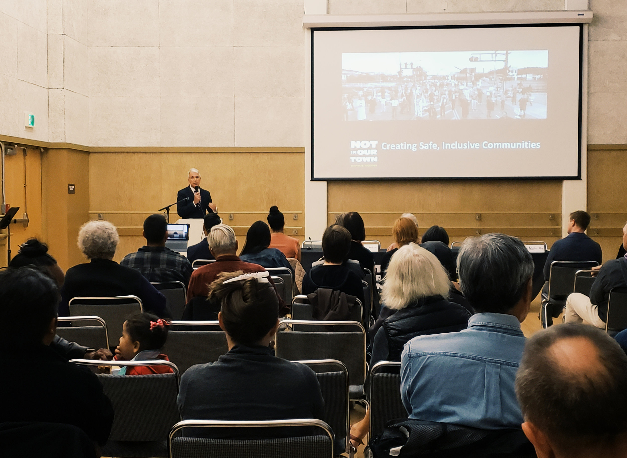"San Francisco District Attorney George Gascón introduces ""Light in the Darkness"" at the SF screening and community discussion earlier this month."