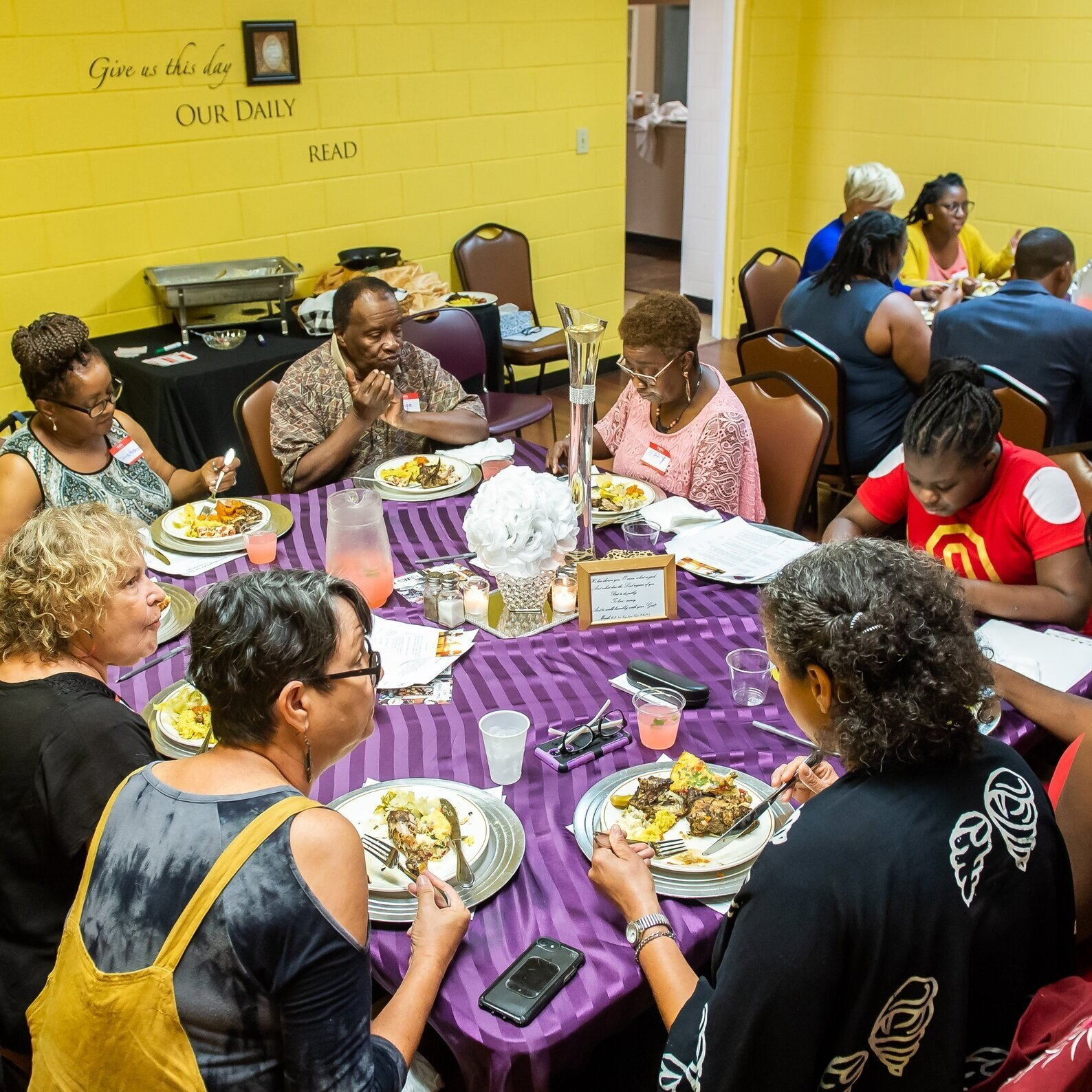 Community members in Decatur, GA meet regularly to talk and get to know each other during Decatur Dinners