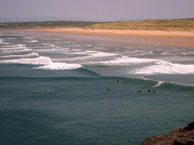 Surfing Bundoran, Ireland