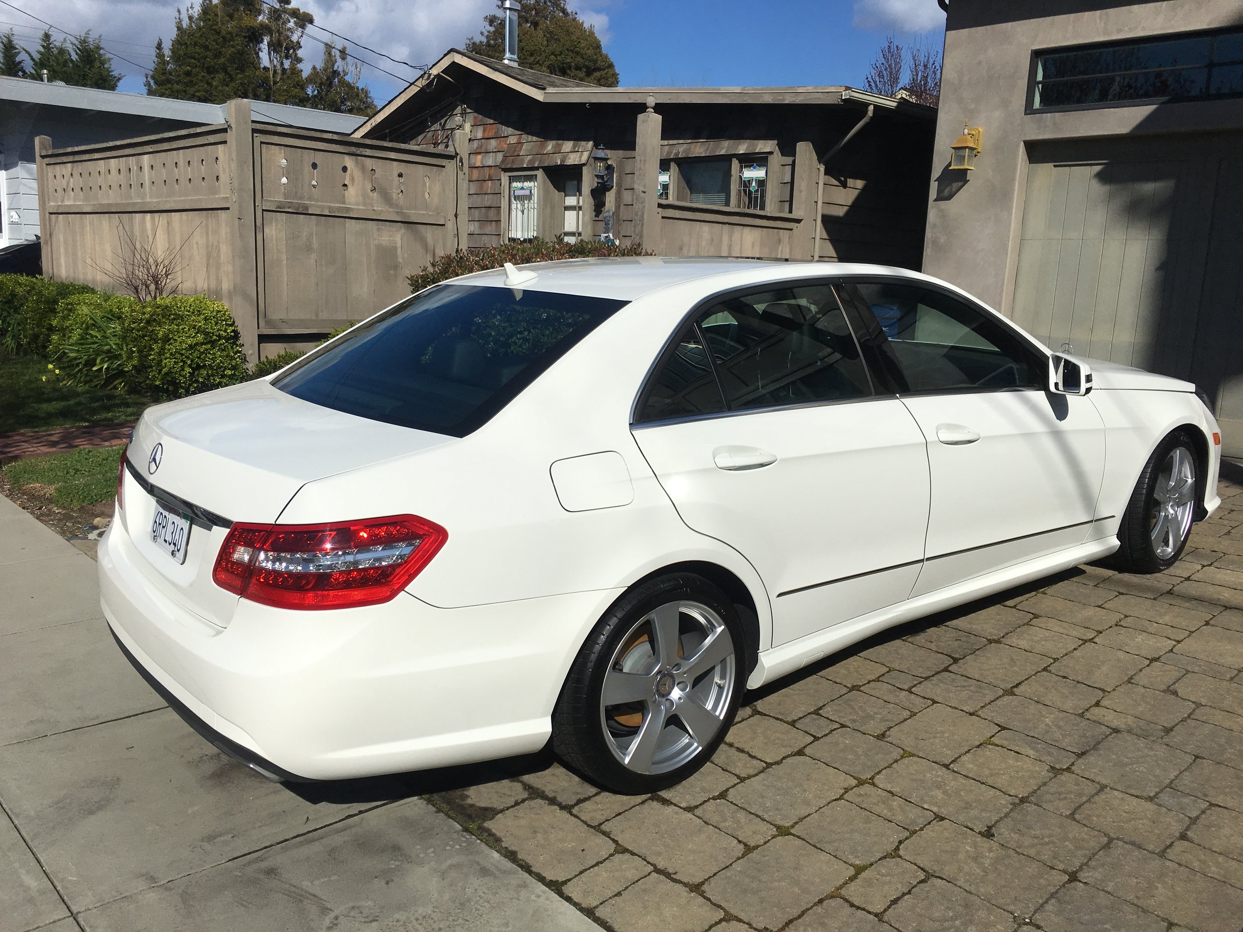 White Mercedes Benz