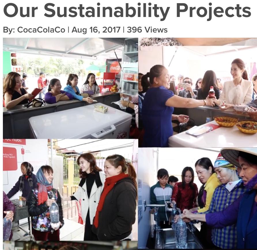 Coca Cola Sustainability programs in Vietnam