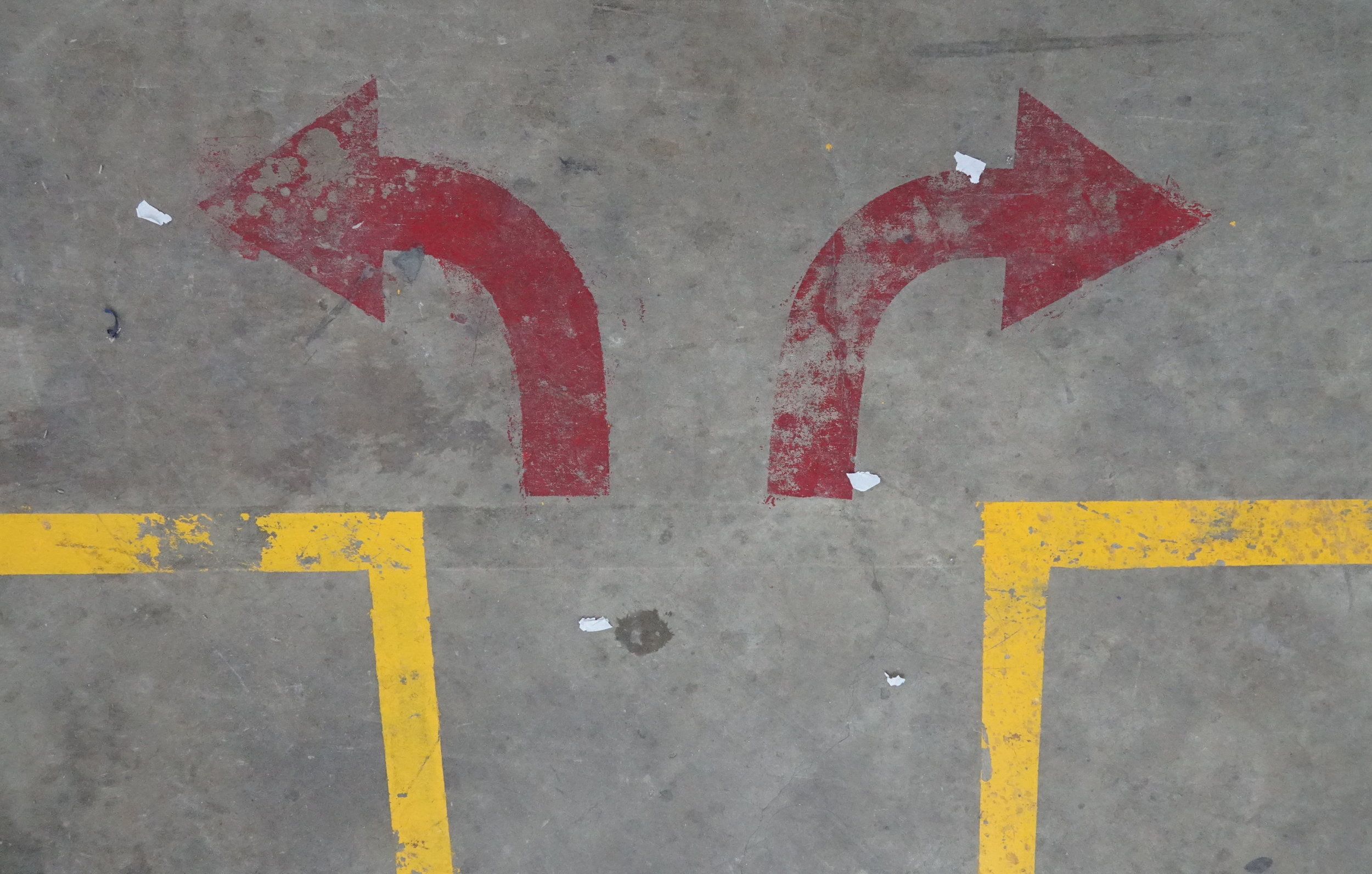 The red arrow is a common site in factory spaces, it has become our unofficial meme guiding us towards collaboration and outward looking approaches to manufacturing