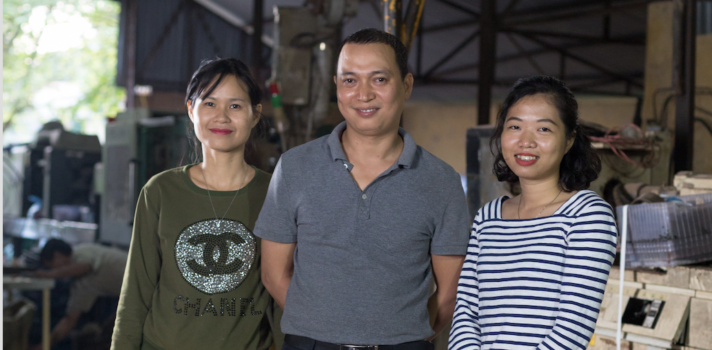 Le Giang captures here with her Factory Partners at Hami Plastic