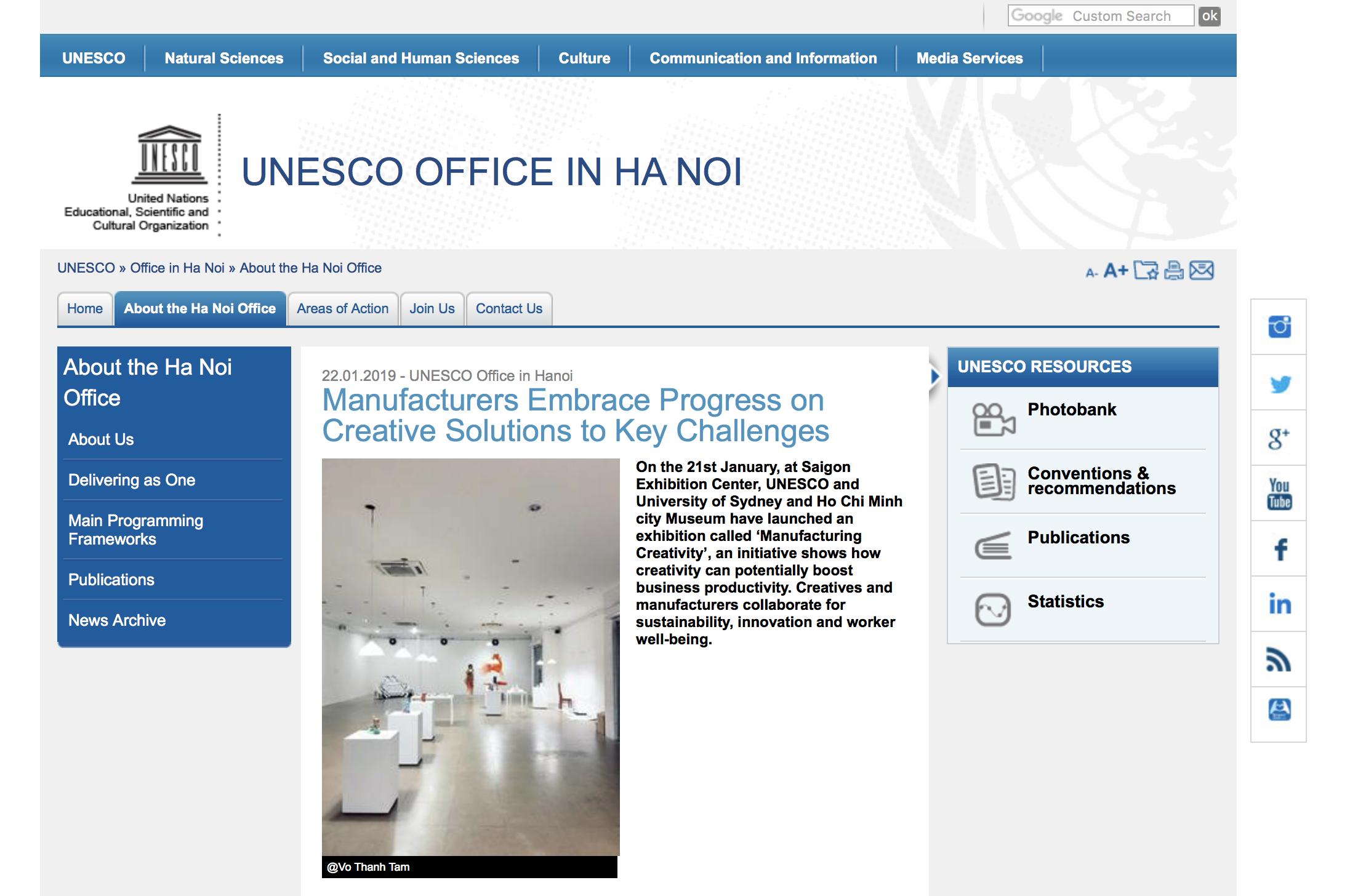 UNESCO Hanoi report on Manufacturing Creativity