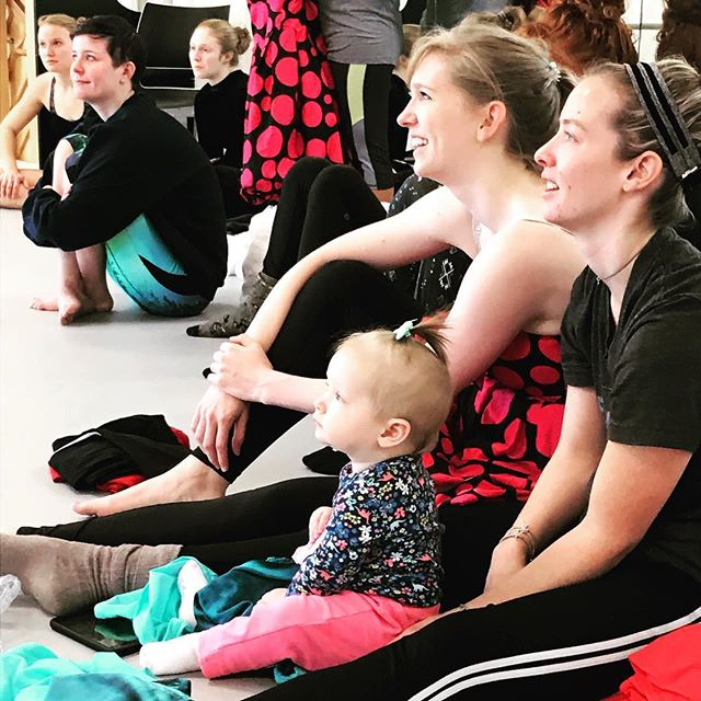 Our youngest PM member is mesmerized by rehearsal for Circus of the Night!