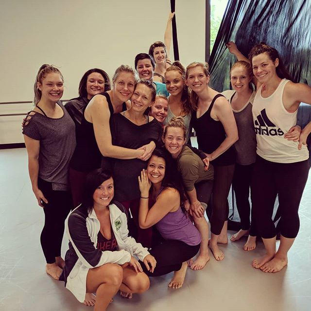 Many thanks to @kim4 for teaching us your infinite skills! You will forever be our Aerial Director near and far! #perpetualmotiondance #aerialarts #aerialdancer #bendy #aerialsilks #wemissyou #dancerlove #workinhard