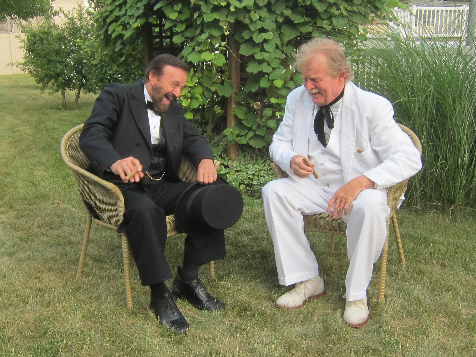Grant and Twain laughing IMG_5581.JPG