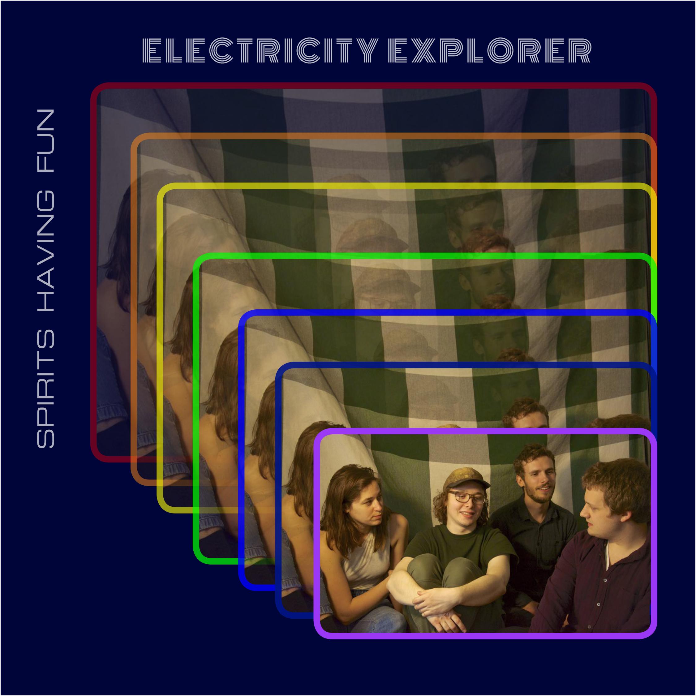 "Cover photo & design for  ""Electricity Explorer"" (Single),  Spirits Having Fun (self-released, 2018). Digital"