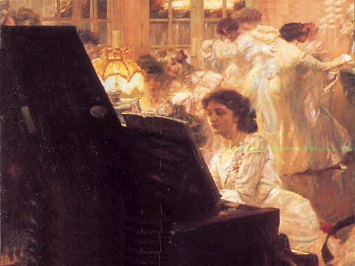"""- """"There is nothing greater than the joy of composing something oneself and then listening to it""""-Clara Schumann"""