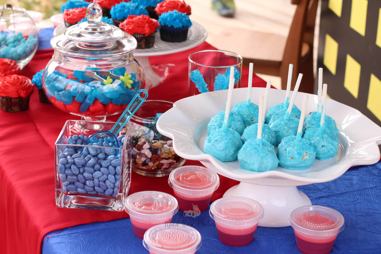 Superhero Fun! - It's a bird, it's a plane… it's a fantastic party theme for kids of all ages! The fun backdrops, the treats, and the mini superhero's made this day a ton of fun!View Gallery>Photography: Wild Rose Photos by Tia