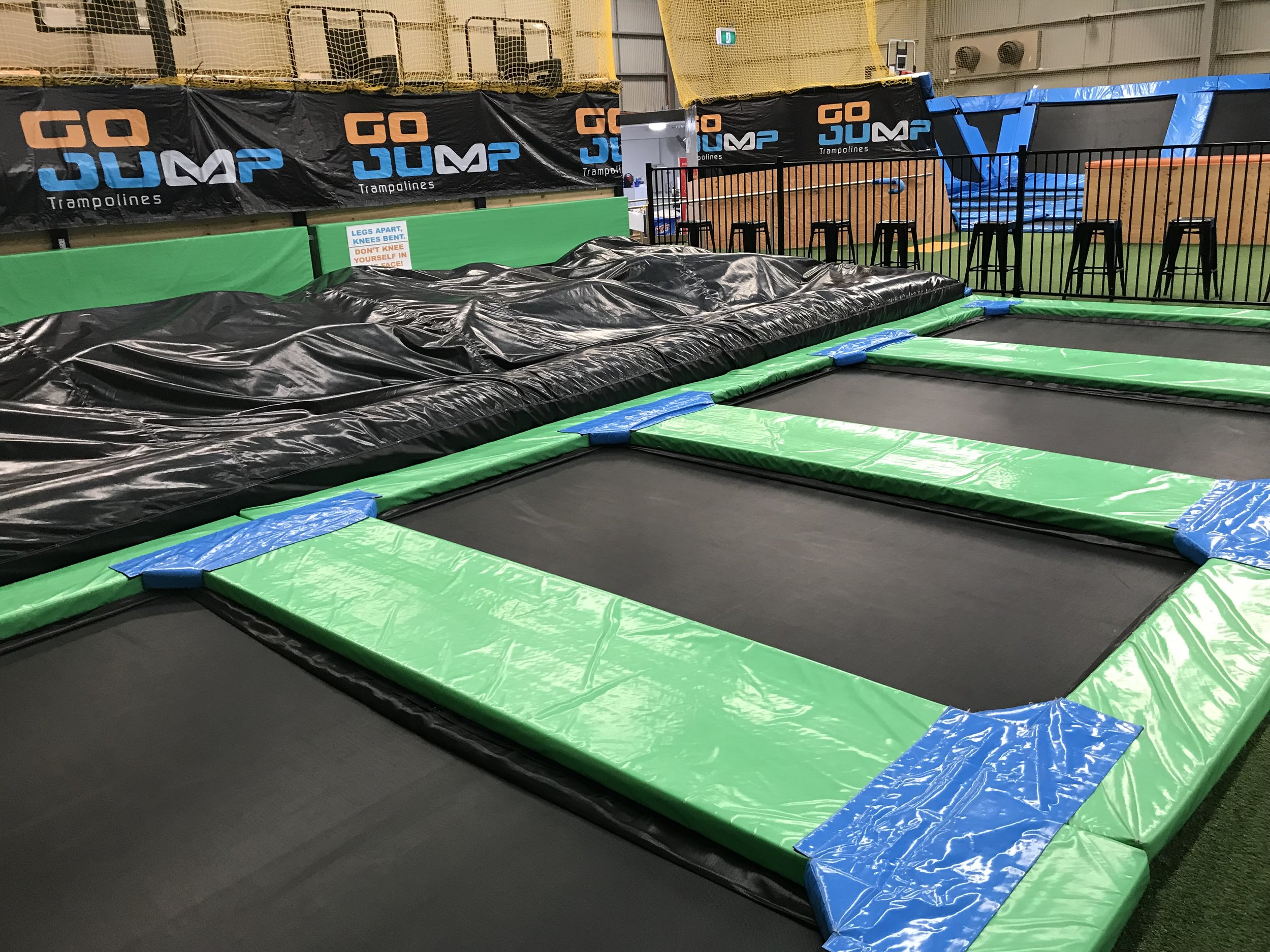 Junior Air Bags - Our general air bag area designed for all ages and abilities to practice their trampolining skills.