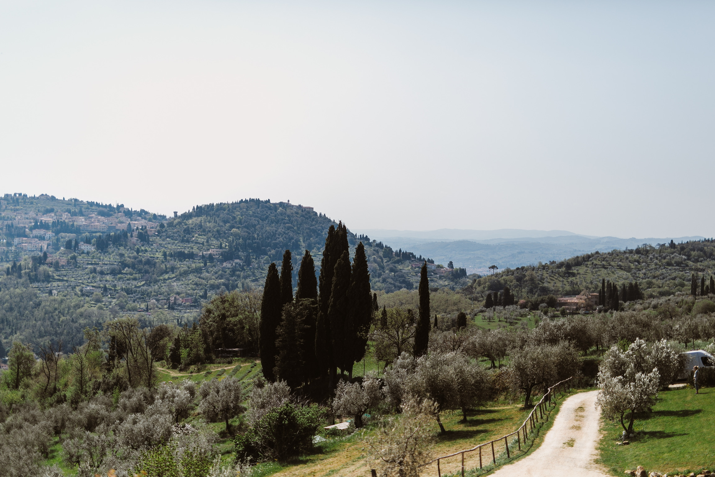 The view from the front door of our villa. The drive from the city center of Florence to our place was seriously majestic.