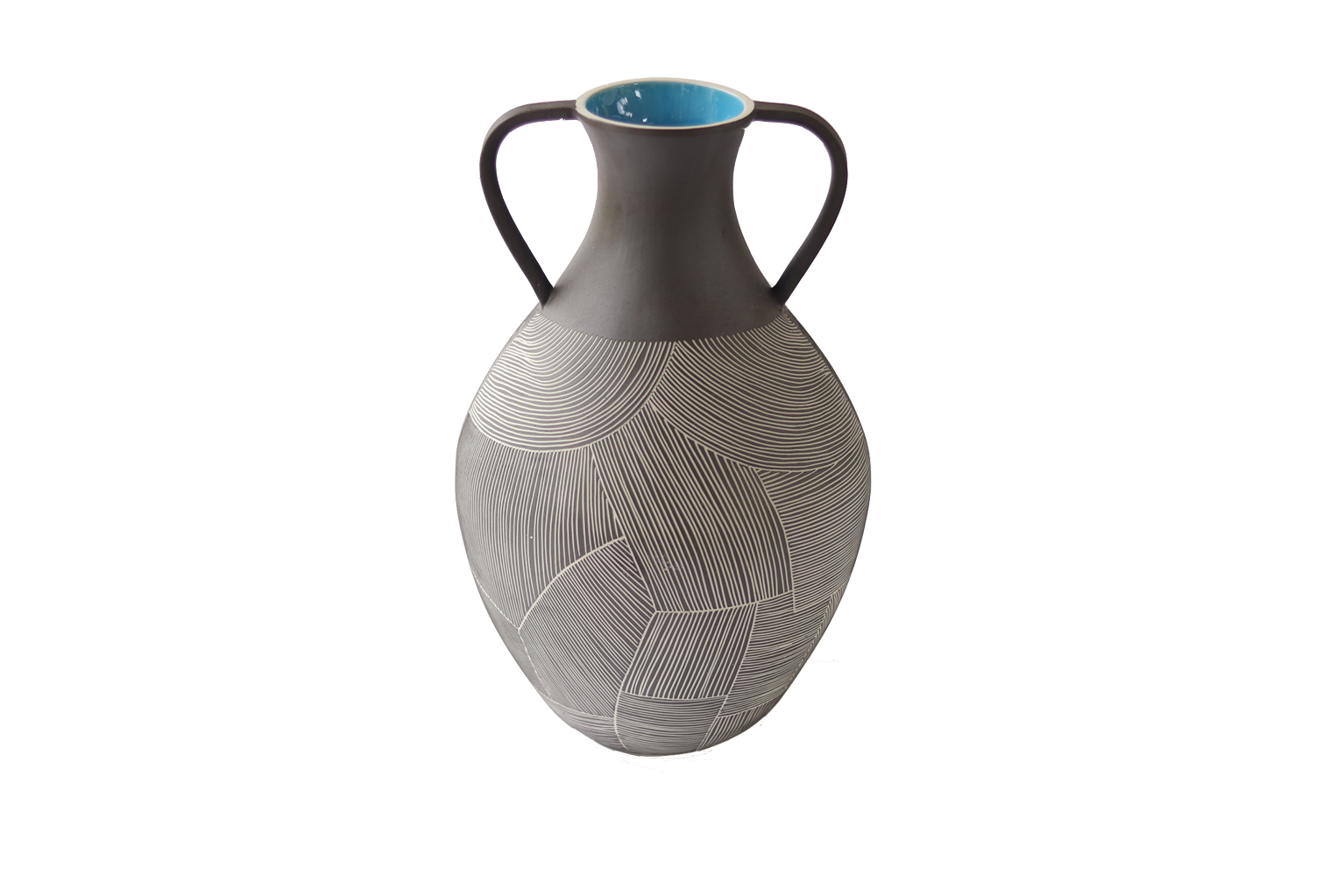 Tall Ceramic Vase with Handles - S$325