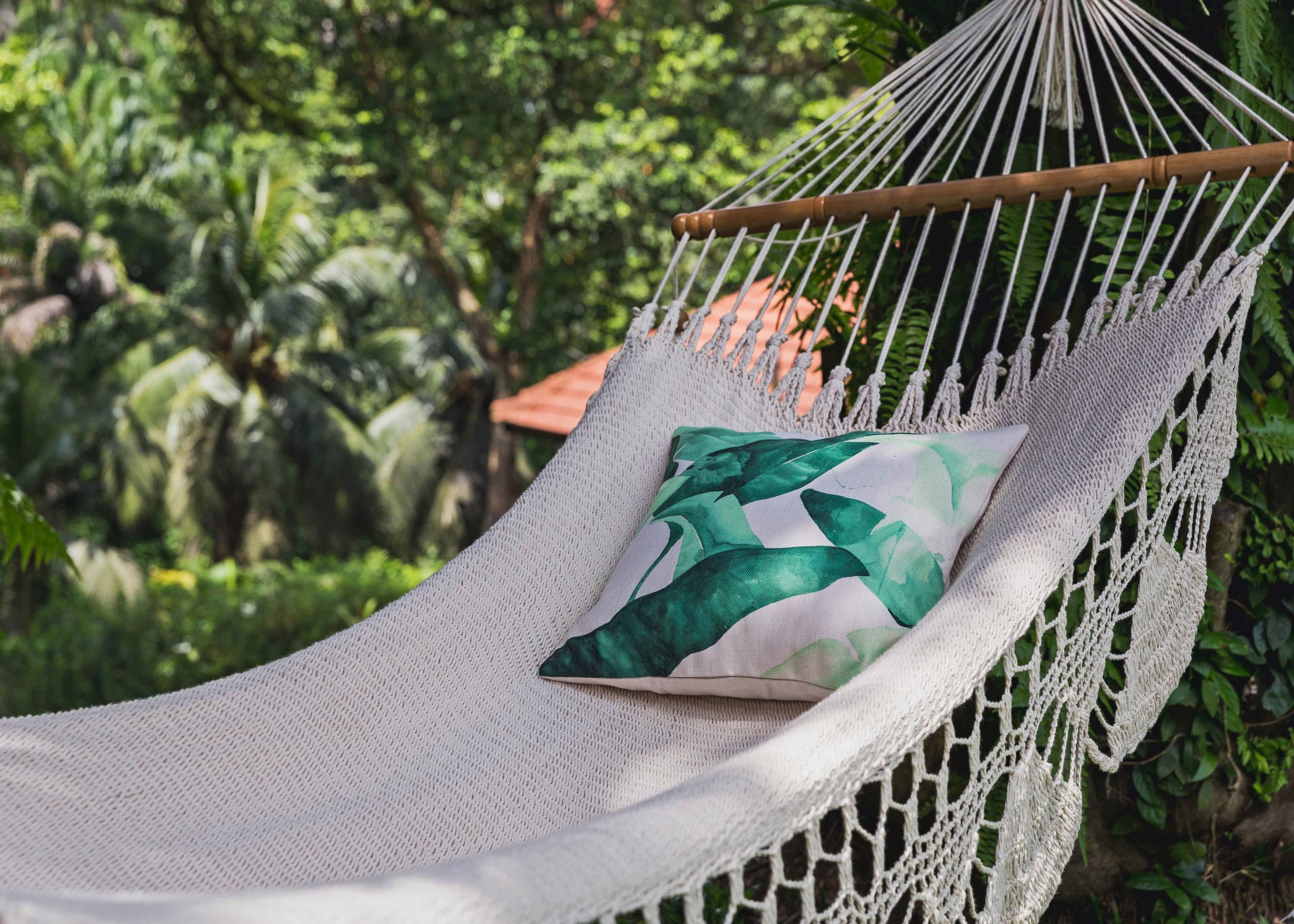 Luxurious Hammock - Crocheted from soft cotton by Nicaraguan artists using a double weave technique, this hammock has to be the most comfortable in all of South East Asia!