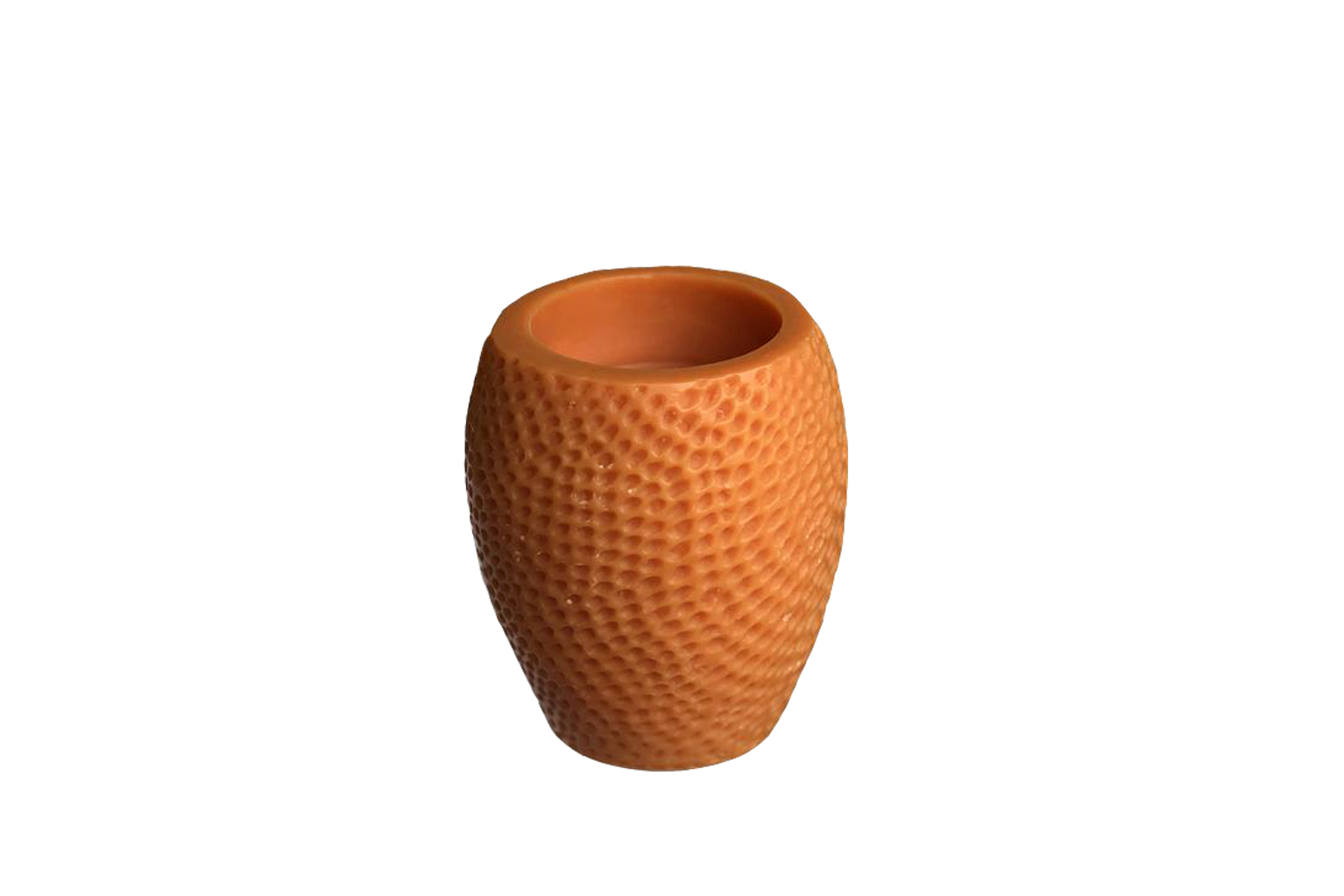 Orange Hammered Beeswax Candle - Small - S$35