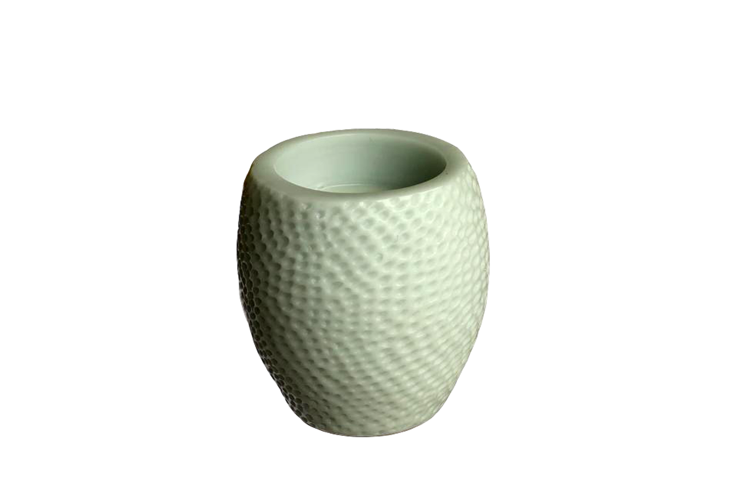 Mint Green Hammered Beeswax Candle - Small - S$35