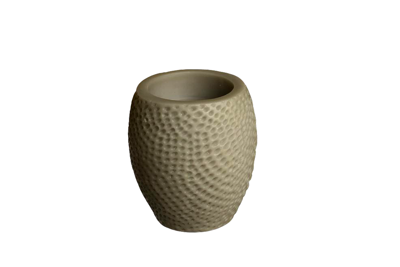 Grey Hammered Beeswax Candle - Small - S$35