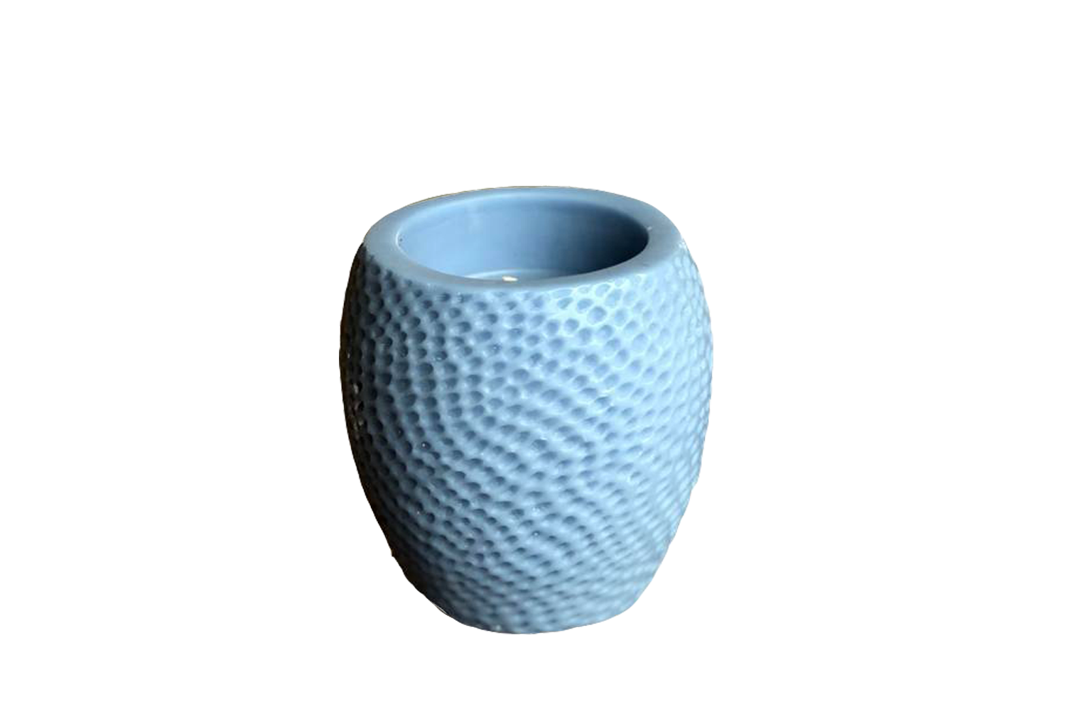 Sky Blue Hammered Beeswax Candle - Small - S$35