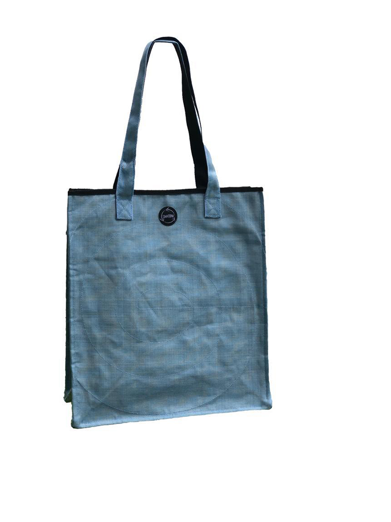 Light Blue Shopper Bag made from Recycled Fishing Nets - Large - S$70