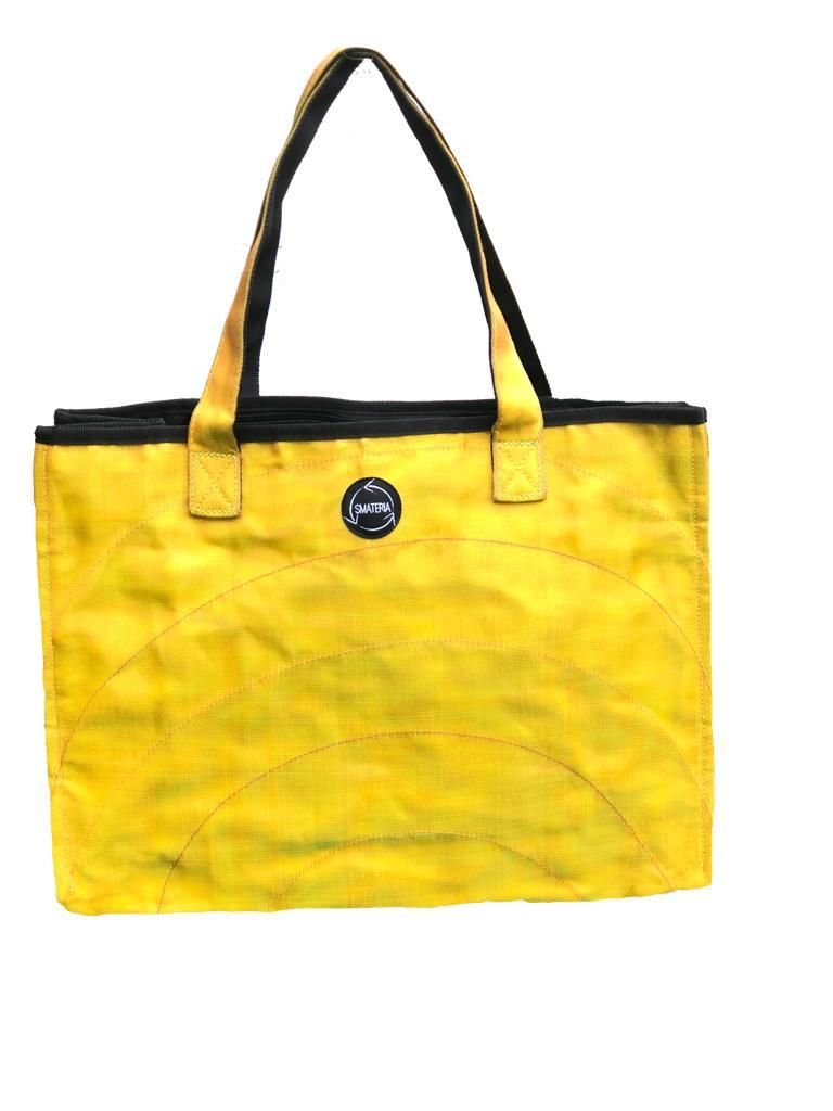 Yellow Shopper Bag made from Recycled Fishing Nets - Medium - S$50