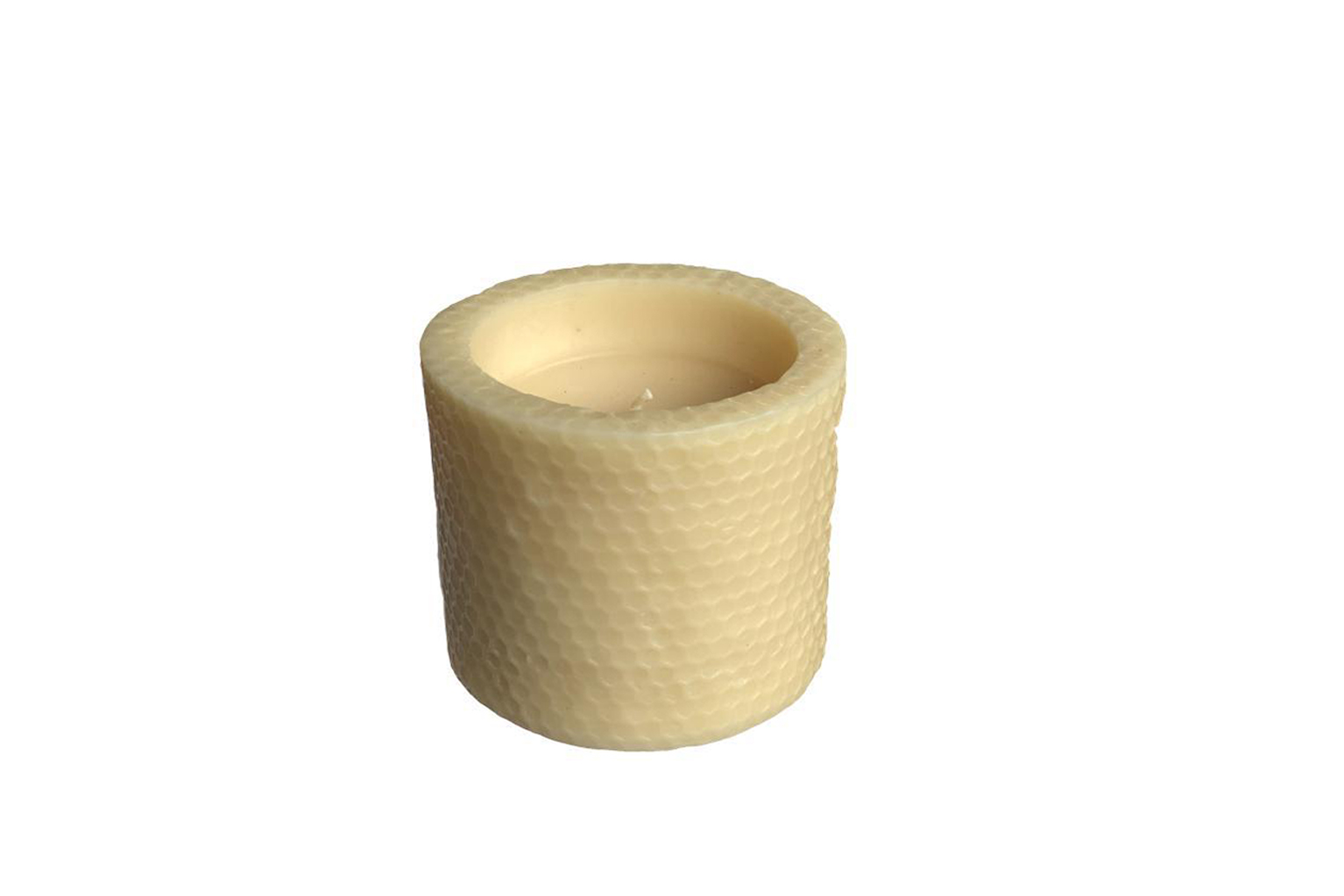 Honeycomb Recessed Beeswax Candle - Medium - S$50