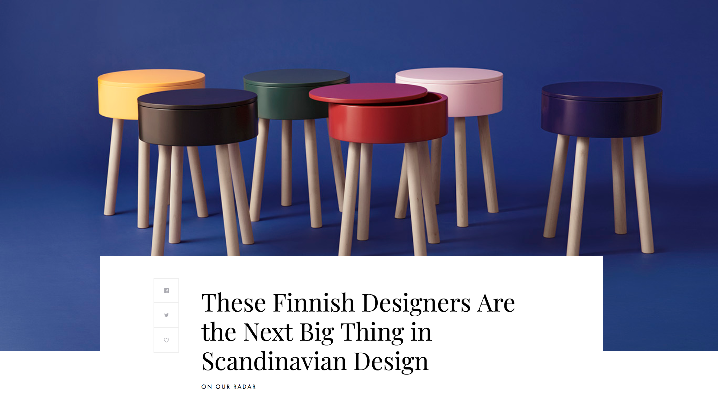 Nonagon Style: These Finnish Designers Are the Next Big Thing in Scandinavian Design - Read more >>