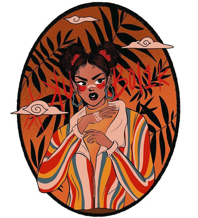 Thought I'd get in on the fun with these #drawthisinyourstyle challenges + this chick @kurboi drew was too cool to pass up on. Such a fun exercise, think I'm gona do a few more of these 🍊 Swipe for his original drawing! . . . #drawthisinyourstylechallenge #kurboi1k #digitalart #illustration #woc #procreateartist