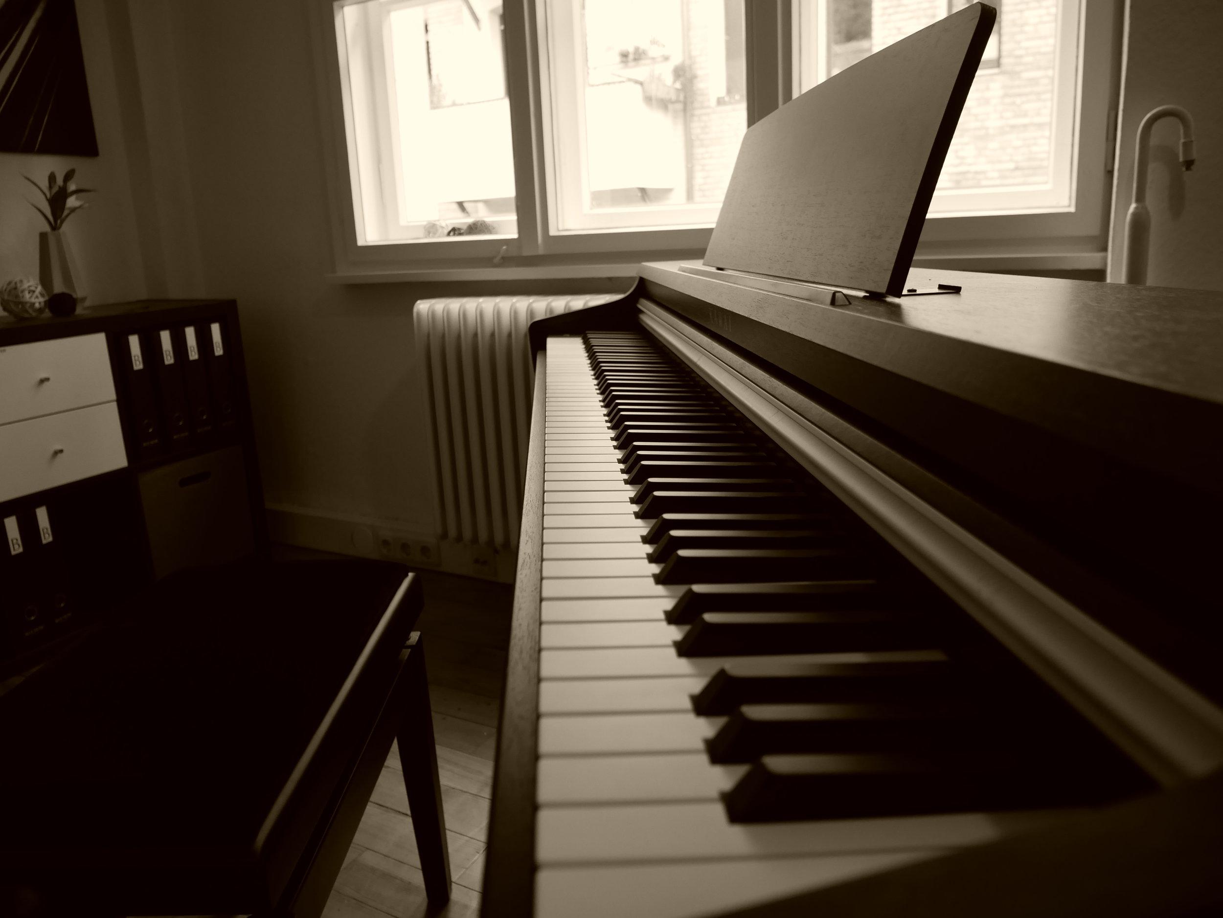 Einblick in die Räumlichkeiten des Klavierunterrichts